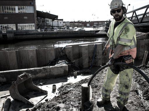 Pumpning för Skanska grundläggning