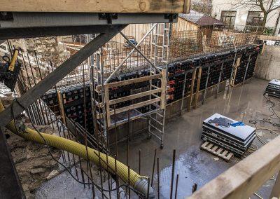 Svårtillgänglig innergård pumpa betong med Betongkonsult i Väst AB