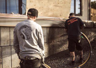 Betongkonsult sprutar betong i Särö