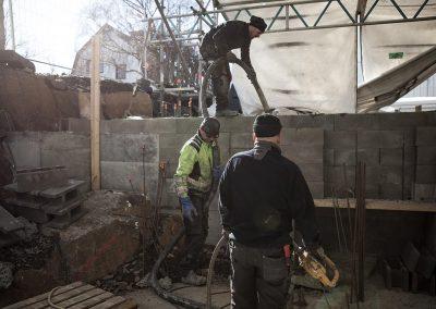 villaområde pumpa betong trångt, Betongkonsult i Väst